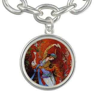Persian Miniature Dancing Nymph Charm Bracelets