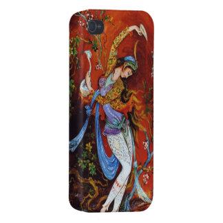 Persian Miniature Dancing Nymph iPhone 4 Case