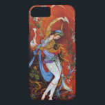 "Persian Miniature Dancing Nymph iPhone 8/7 Case<br><div class=""desc"">Dancing Persian girl,  miniature painting Beautiful painting of a young girl nymph wearing traditional Iranian folk costume with flowery flowing robes,  dancing and pouring wine from jug against a fantasy background mostly bright vibrant red</div>"