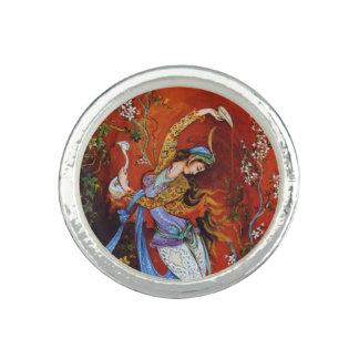 Persian Miniature Dancing Nymph Ring