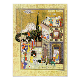 Persian Miniature: The Old Rogue Learns His Lesson Poster