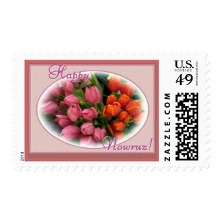 Persian New Year - Happy Nowruz Tulips Postage