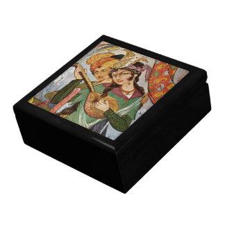 Persian Nymph with setar Jewelry Box