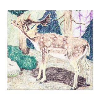 Persian Or Mesopotamia Deer Canvas Print