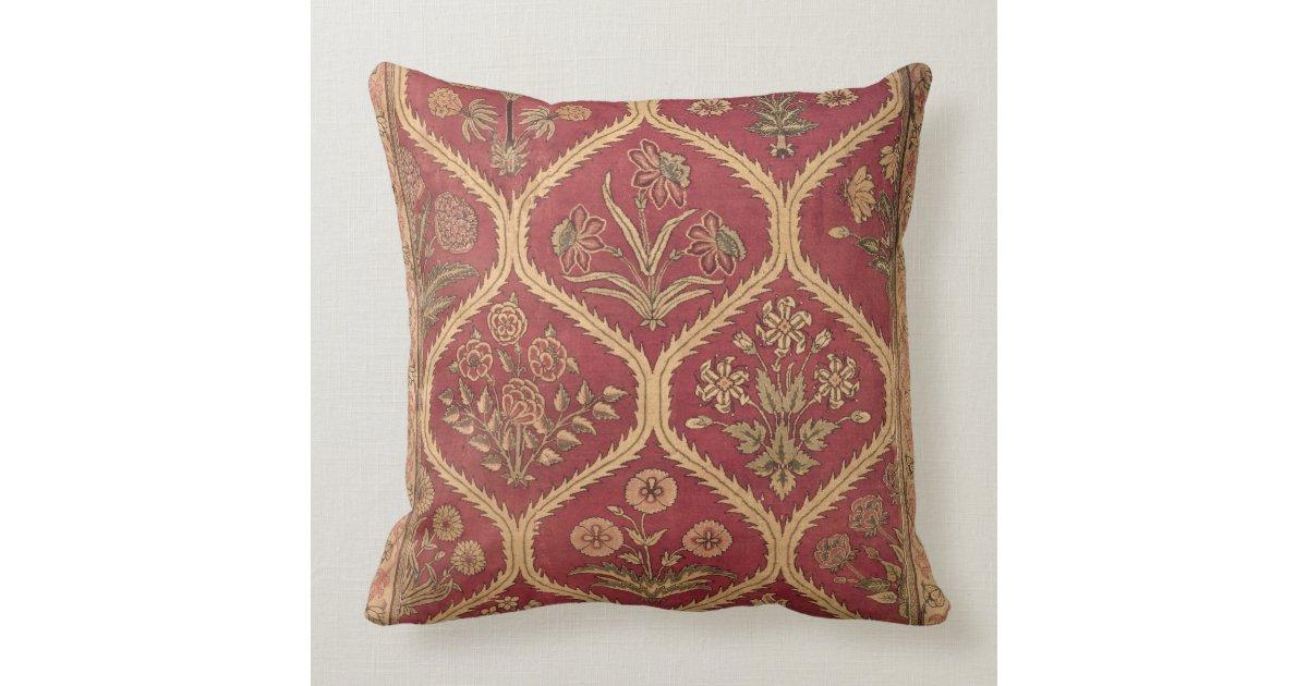Persian Design Throw Pillows : Persian or Turkish carpet, 16th/17th century (wool Throw Pillow Zazzle