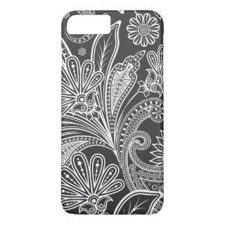 Persian Paisley, Paisley Pattern - Black White iPhone 7 Plus Case
