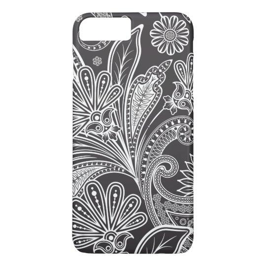 Persian Paisley, Paisley Pattern - Black White iPhone 7 Plus Case