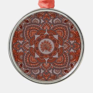 Persian Peacock Metal Ornament