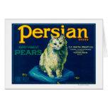 Persian Pear Crate LabelYakima, WA Card