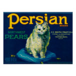 Persian Pear Crate LabelYakima, WA Poster