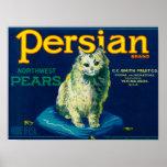 Persian Pear Crate LabelYakima, WA Posters