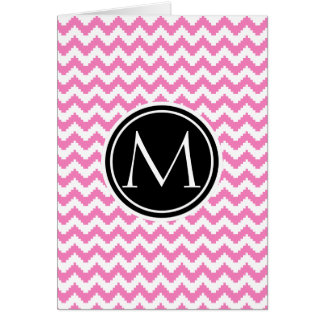 Persian Pink Pattern with Monogram Card