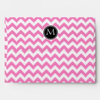 Persian Pink Pattern with Monogram Envelope