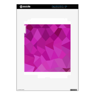 Persian Rose Pink Abstract Low Polygon Background Decals For iPad 2