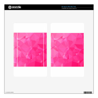 Persian Rose Pink Abstract Low Polygon Background Kindle Fire Decal
