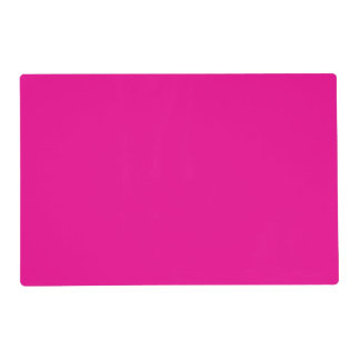 PERSIAN ROSE (solid rosy color) ~ Laminated Place Mat