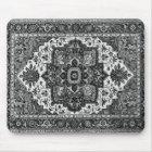PERSIAN RUG - Black & White Mouse Pad