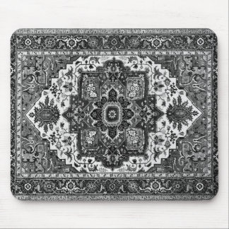 PERSIAN RUG - Black & White Mouse Pad