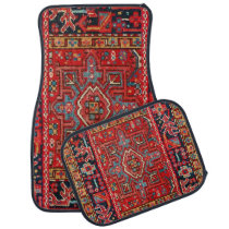 Persian Rug Design Set of 4 Car Mats