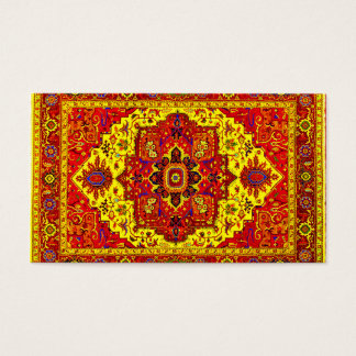 PERSIAN RUG - Red & Yellow Business Card