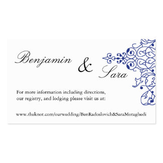 Persian Scroll Wedding Website Card Business Cards