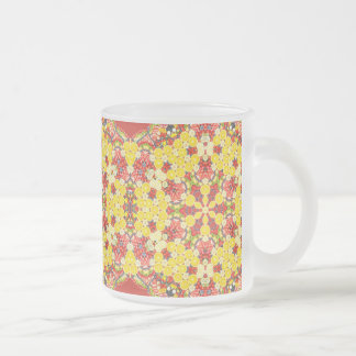 persian style frosted glass coffee mug
