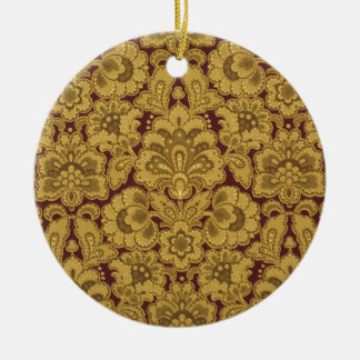 Persian styled flowers, 1880-1890 Double-Sided ceramic round christmas ornament