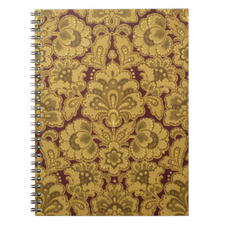 Persian styled flowers, 1880-1890 spiral notebook