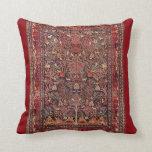 Persian Vintage Antique Carpet Nature Fine Art Pillow