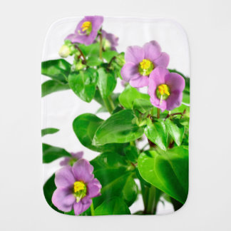 Persian violets baby burp cloth