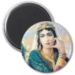 Persian Woman Folk painting in detail Refrigerator Magnet