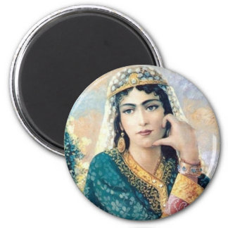 Persian Woman Folk painting in detail Refrigerator Magnet