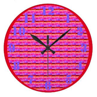 Persianas de ventana psicodélicas rosadas reloj redondo grande