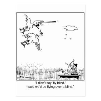 Persianas que vuelan del pato postal