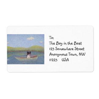 Persiga a la deriva en el barco de pesca - el sueñ etiqueta de envío
