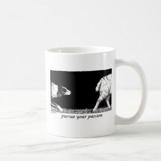 Persiga a su border collie de la pasión tazas de café