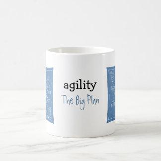Persiga el dibujo animado de la agilidad - el plan taza de café