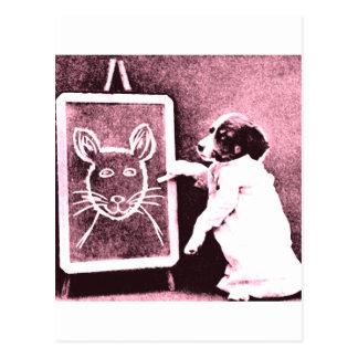 persiga el dibujo qué mira para ser un ratón tarjetas postales