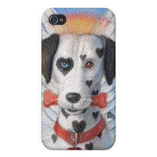 Persiga la caja del iphone 4, corazones divertidos iPhone 4 coberturas