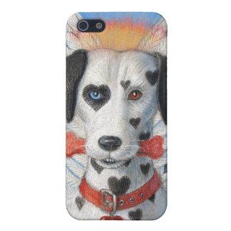 Persiga la caja del iphone 4, corazones divertidos iPhone 5 funda