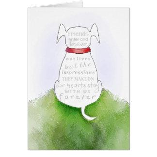 Persiga la tarjeta de condolencia - impresiones en