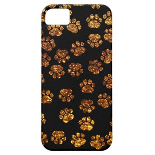 Persiga las patas, rastros, Pata-impresiones, bril iPhone 5 Case-Mate Protectores