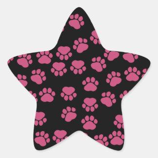 Persiga las patas, rastros, Pata-impresiones - Pegatina Forma De Estrella Personalizada