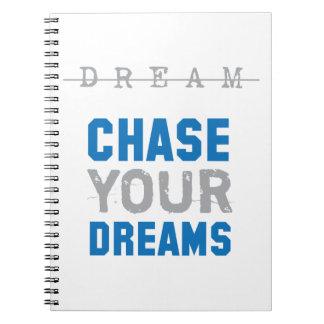 Persiga su inspiración inspirada de los sueños cuadernos