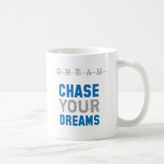 Persiga su inspiración inspirada de los sueños tazas