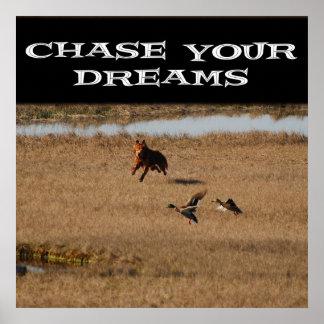 Persiga sus sueños póster