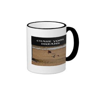 Persiga sus sueños tazas de café