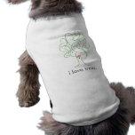 Persigue árboles de amor camisetas de perrito