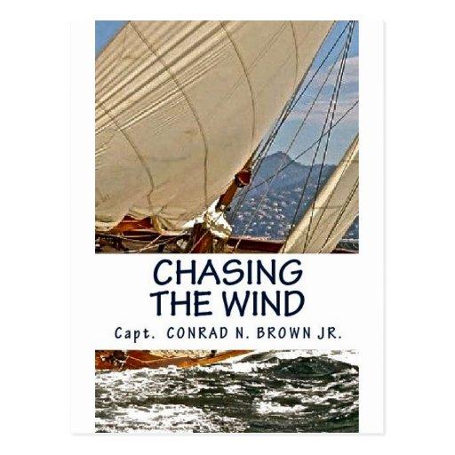 Persiguiendo el viento, navegando historias tarjetas postales