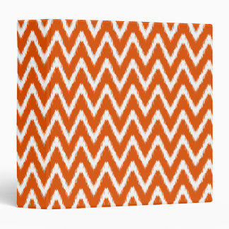 Persimmon Asian Moods Ikat Chevrons 3 Ring Binder